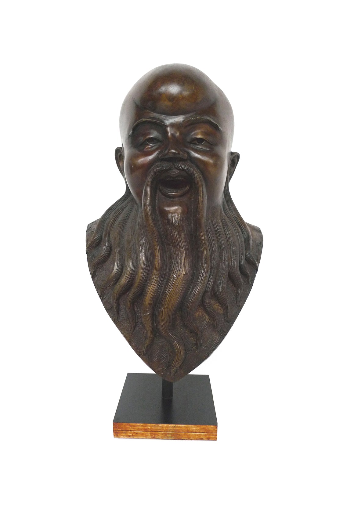 Bronze Bust of Chinese Deity