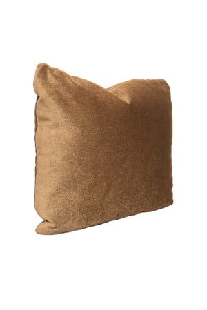 Custom Pillow With Brown Mohair Velvet From Schumacher