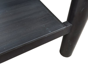 Custom-Made Steel & Marble Low Sofa Table