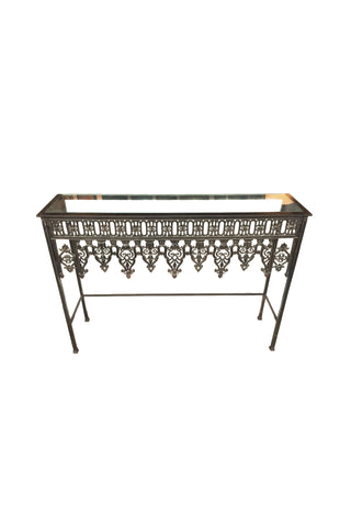 20th Century Custom Steel & Glass Console Table