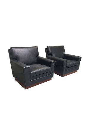 Pair of Leather Lounge Chairs by Jørgen Ryesberg for Ryesberg Møbler