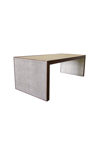 Dwell Studios Coffee Table With Walnut Frame & Faux Shagreen