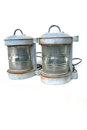 1930s Industrial Shipping Lanterns