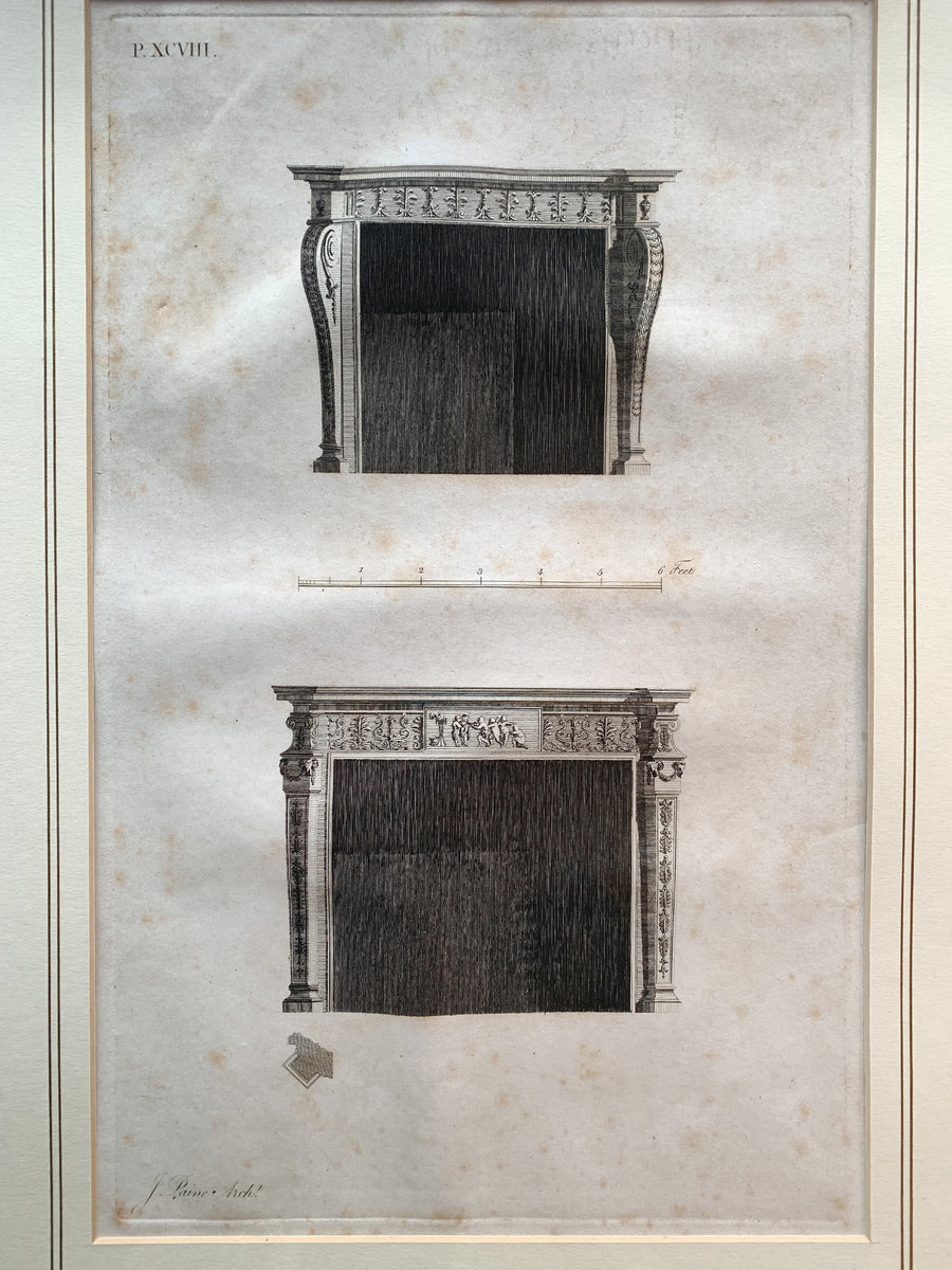 Set of 10 Architectural Engravings