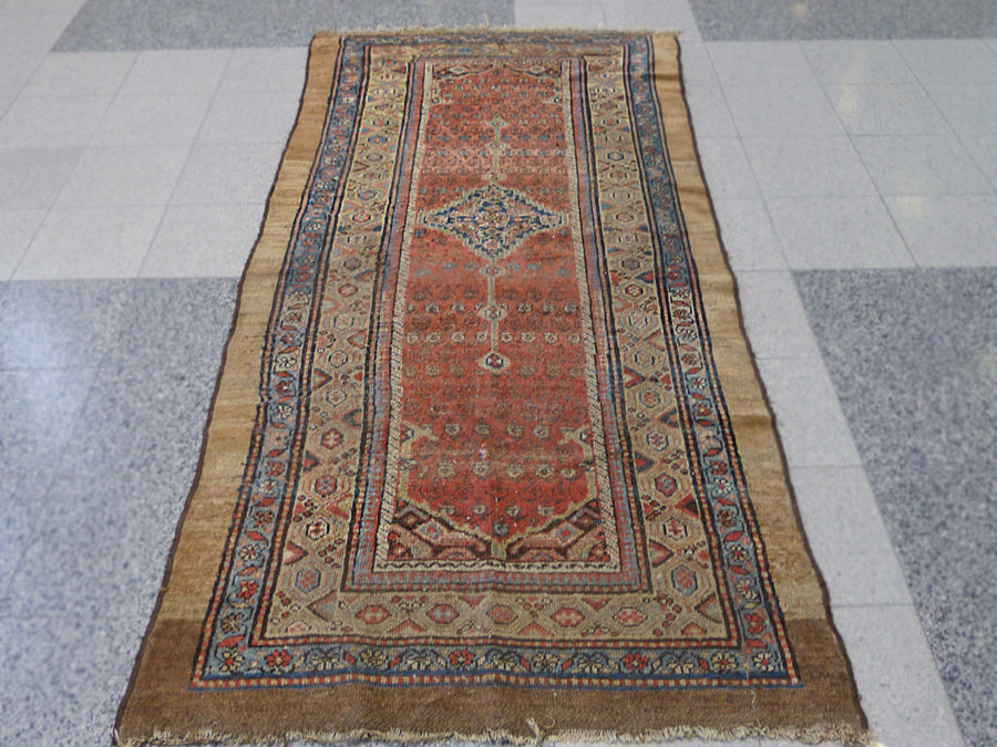 "Early 20th Century Caucasian Runner Rug - 7' 11"" X 3' 8"""