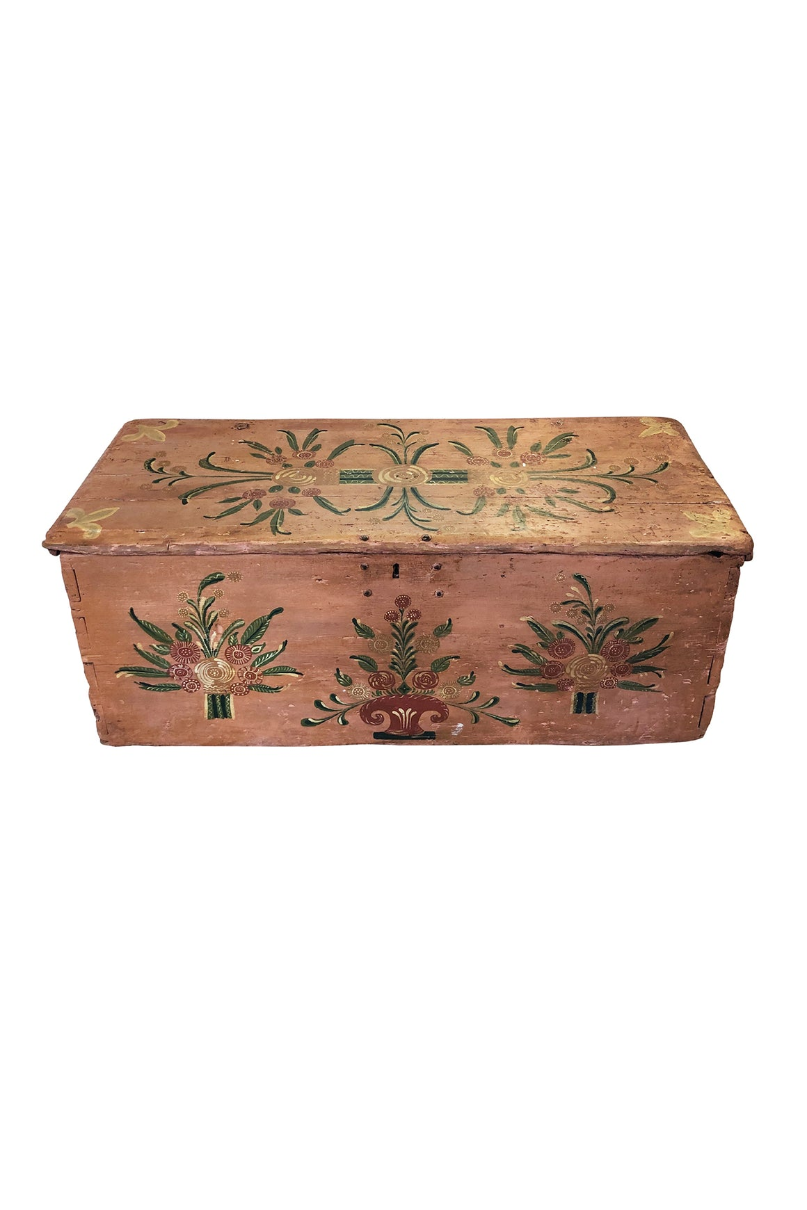 Early 20th Century Handcrafted & Painted Chest