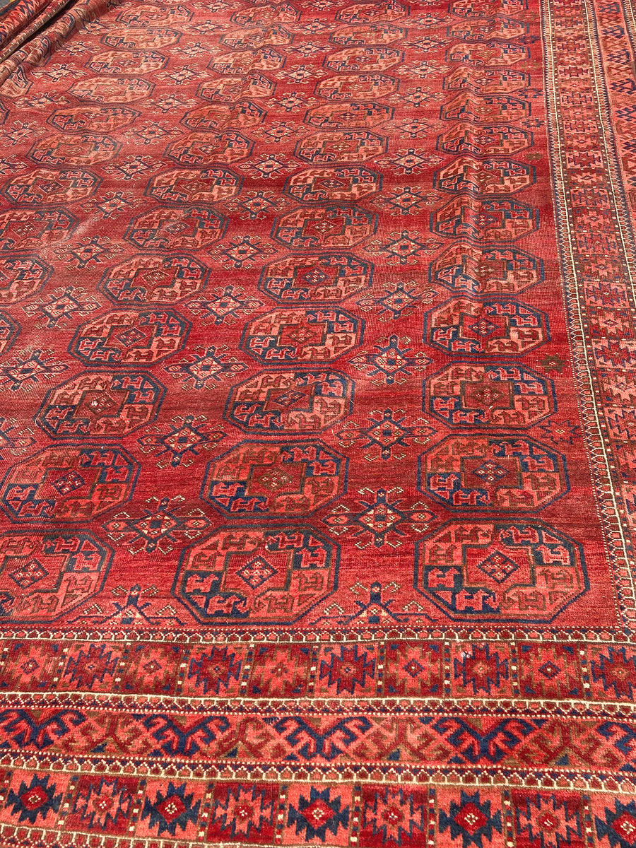 "Early 20th Century Ersari Rug - 18' 7"" X 11' 5"""