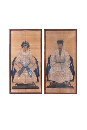 Early 20th Century Portraits of Chinese Dignitaries - a Pair