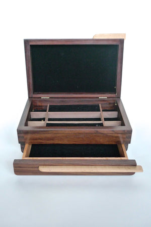 Handcrafted Mahogany Jewelry Box