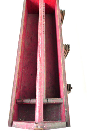 Early 20th Century Red Tool & Blade Box
