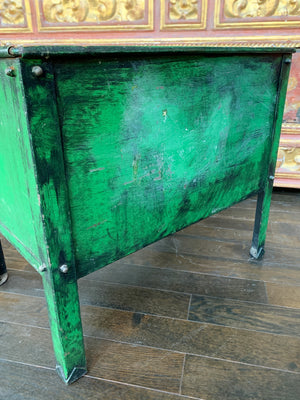 20th Century Green Painted Tin Container