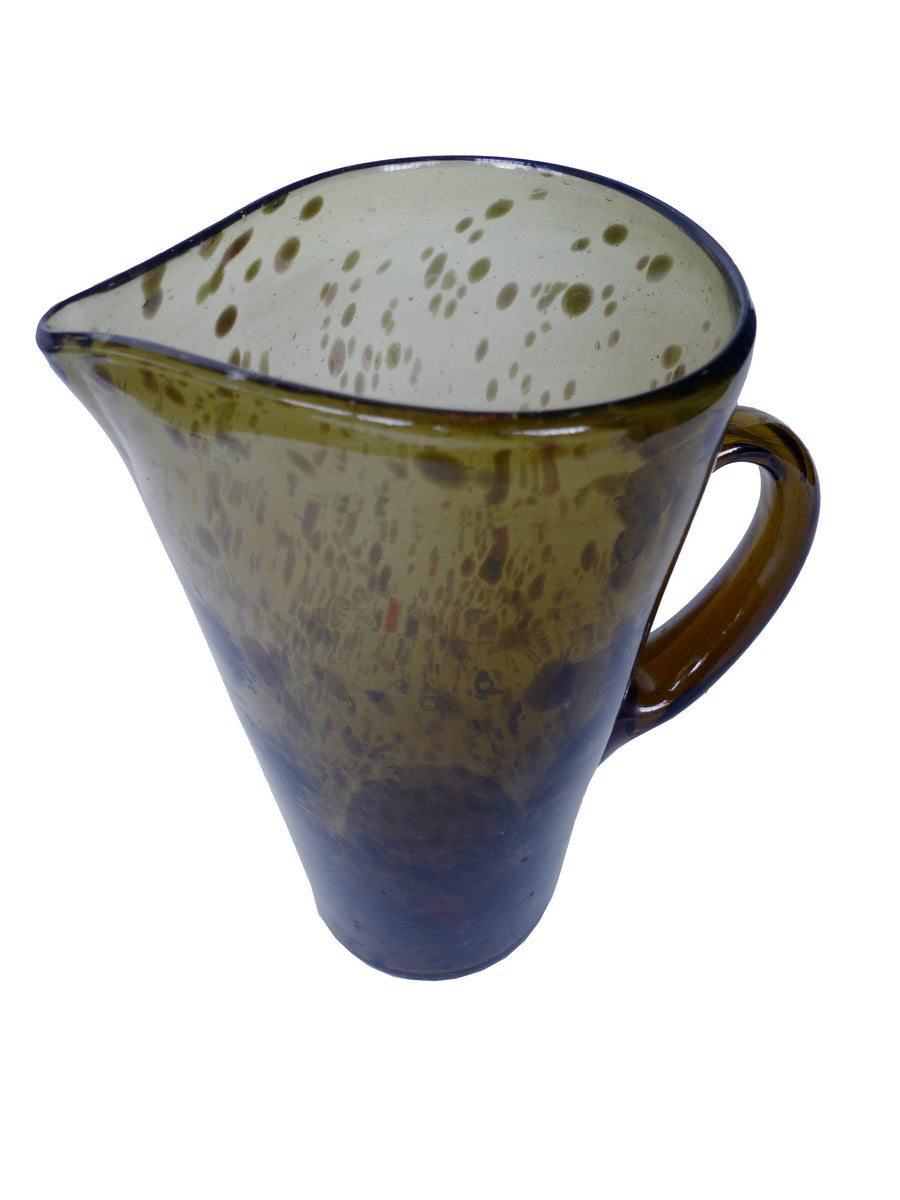 Handblown Green Glass Pitcher