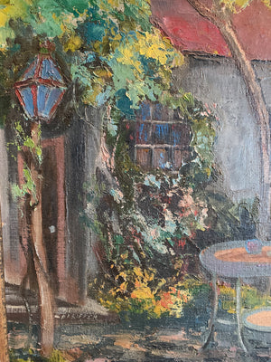 """Studio Patio"" - Oil Painting by Heinrich Pfeiffer"