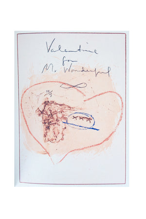 "Signed Helen Frankenthaler Book of Intaglio Prints, ""Valentine for Mr. Wonderful"""