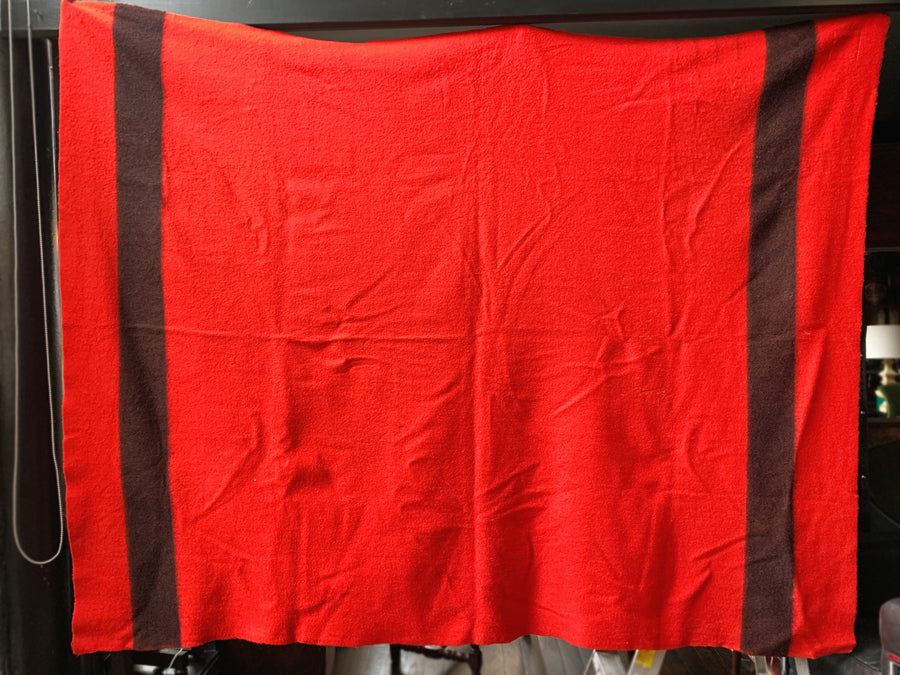 Vintage Red Hudson's Bay Company Point Blanket