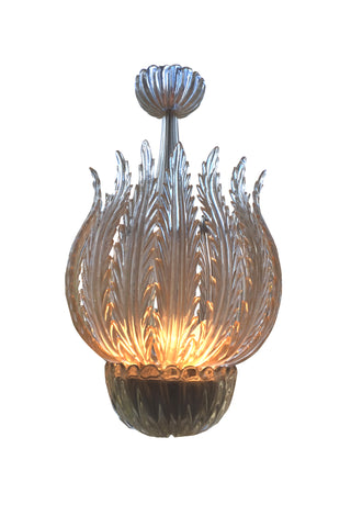 Italian Murano Glass Chandelier Attributed to Barovier & Toso