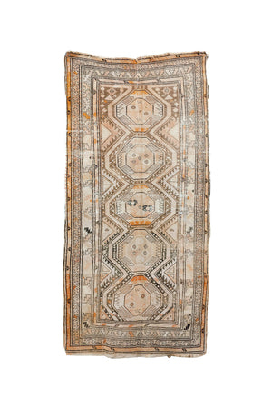 "Antique Turkoman Runner Rug - 52"" X 100"""