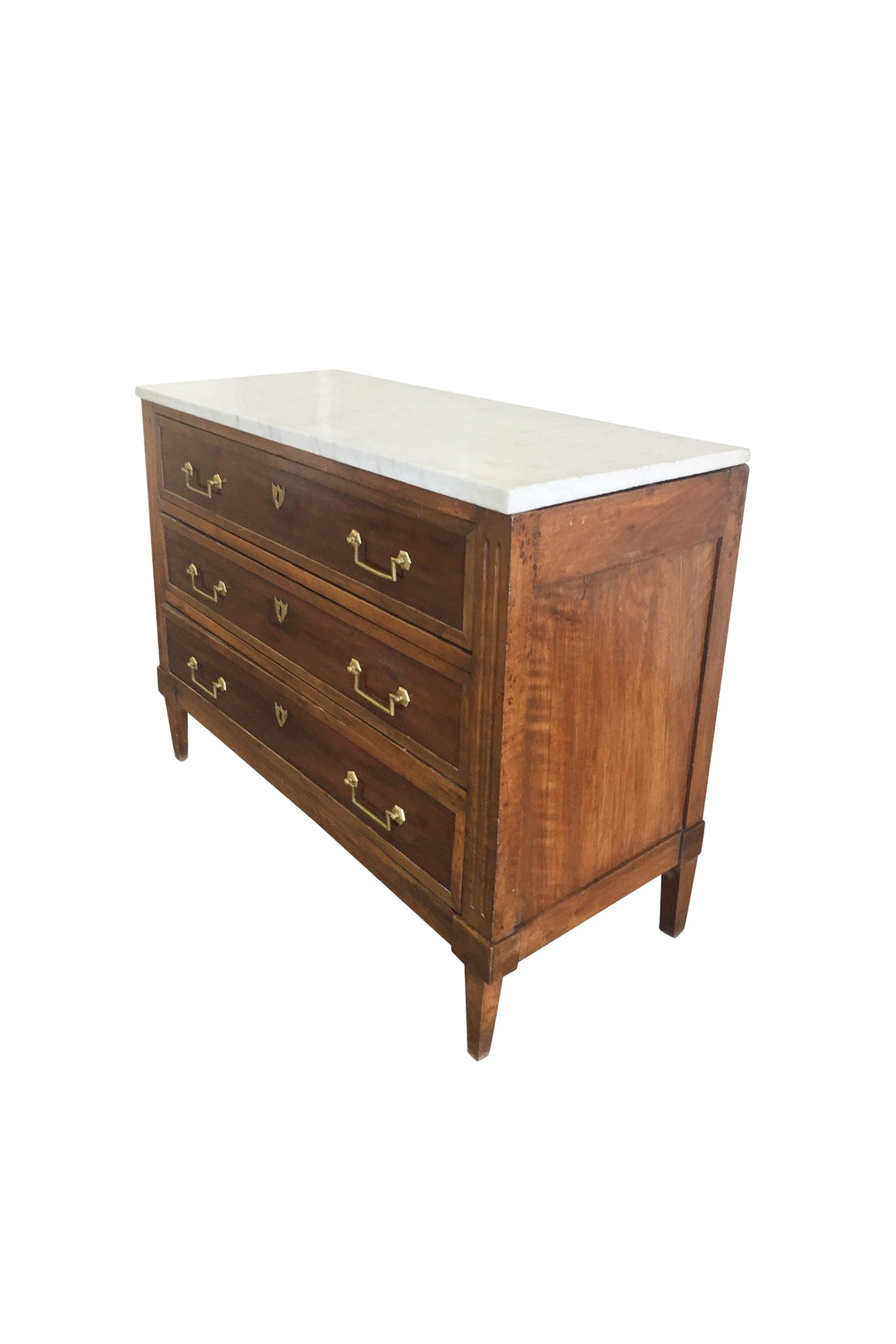 Louis XVI Mahogany Commode With Marble Top
