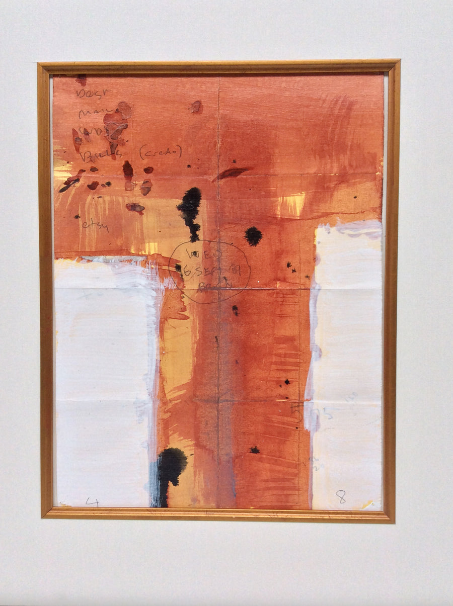 Abstract Painting on Paper by MP Landis