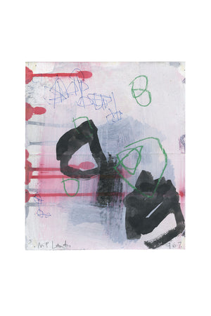 """WD967"" Abstract Work on Paper by M. P. Landis - Warehouse Drawing Series"