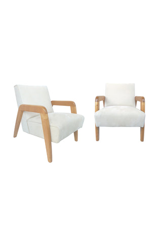 Mid-20th Century Armchairs in the Early Style of Edward Wormley