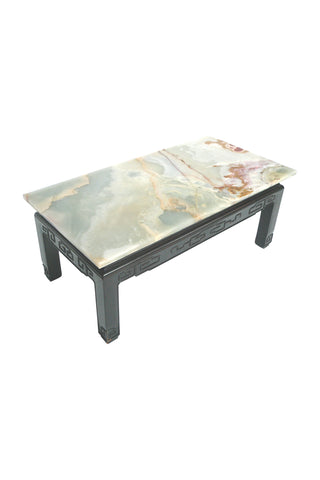 Mid-20th Century Asian Marble-Top Coffee Table