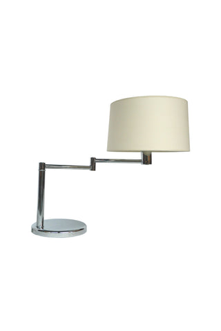 Midcentury Chrome Swing-Arm Desk Lamp by Walter Von Nessen