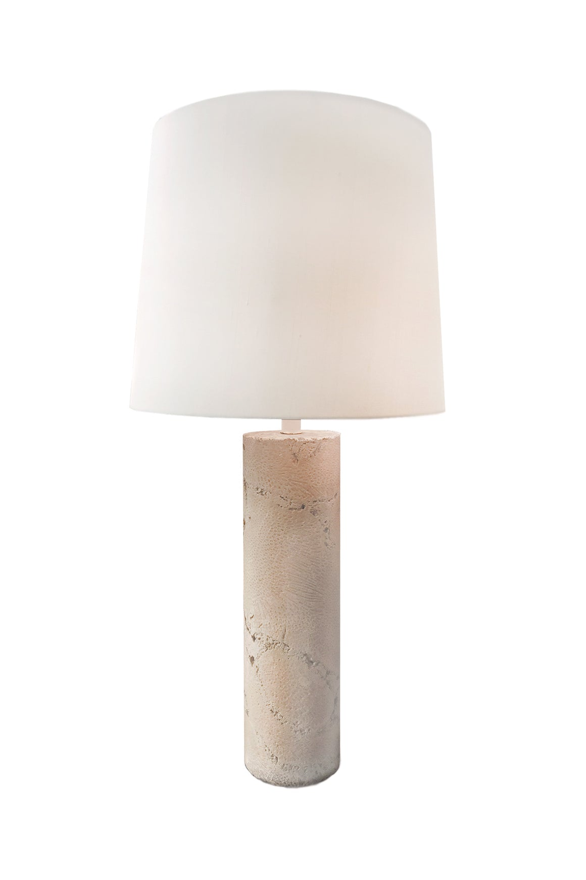 Midcentury Modern Coral Column Table Lamp