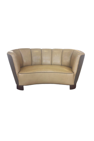 Reupholstered Danish Modern Settee by Slagelse Møbelvaerk