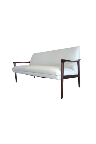 Mid-20th Century White Danish Sofa by Ole Wanscher