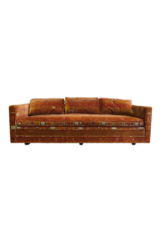 Midcentury Dunbar-Attributed Sofa in Jack Lenor Larsen Fabric