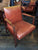 Mid-Century Leather & Walnut Armchairs in the Style of Jens Risom - a Pair