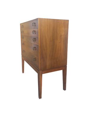 Midcentury Danish Chest of Drawers in the Style of Frits Henningsen