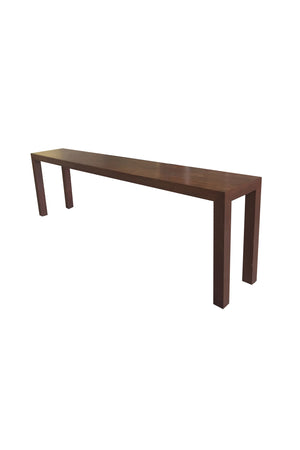 Midcentury Walnut Parsons Console Table - ON HOLD