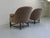 Midcentury Mohair Barrel Club Chairs