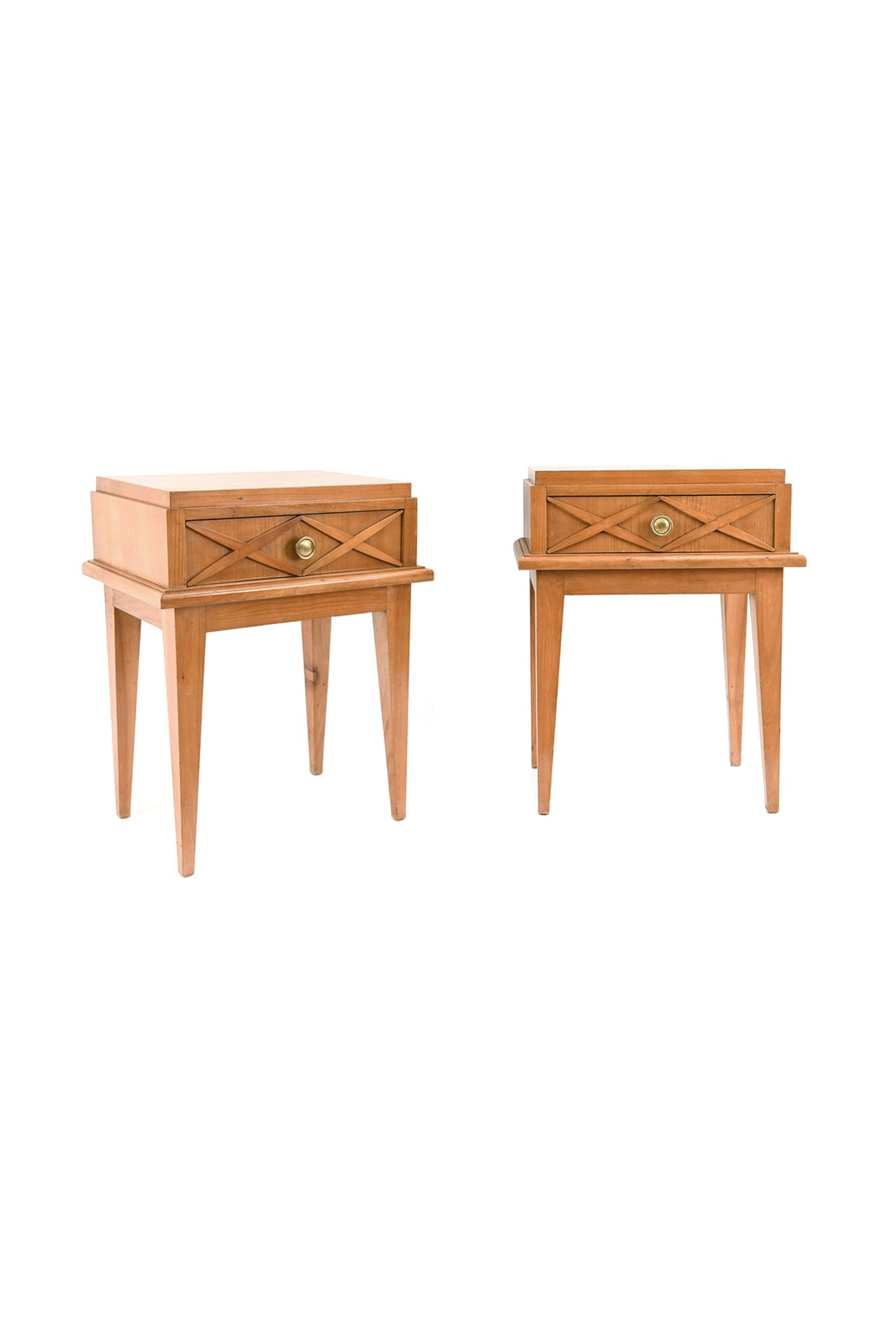 Pair of Mid-20th Century Side Tables in the Style of Maison Gouffé Paris - ON HOLD