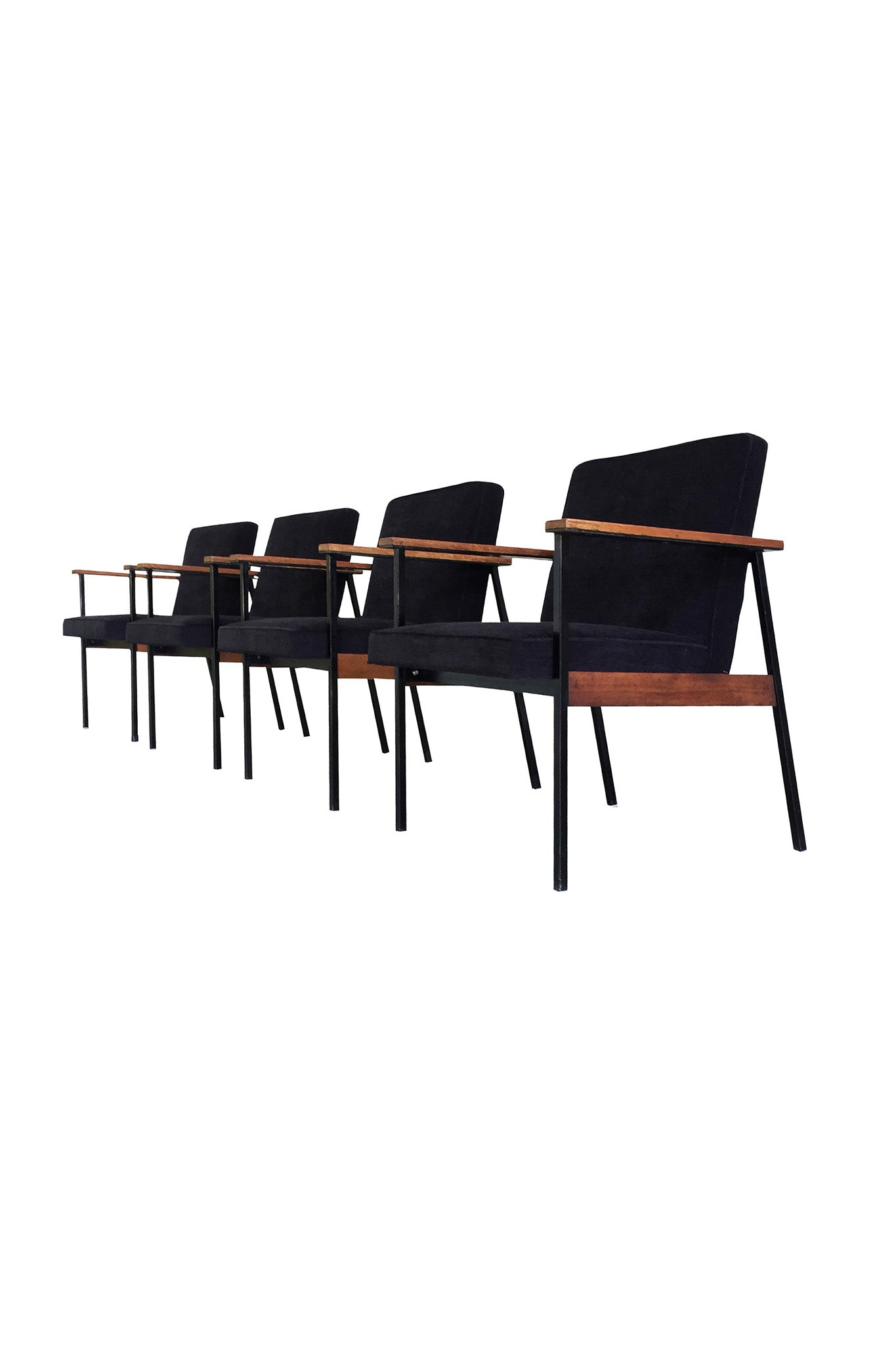 Mid Century Modern Office Chairs Attributed To Paul Mccobb A Set