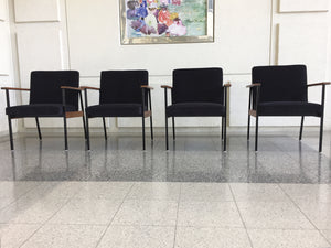 Mid-Century Modern Office Chairs Attributed to Paul McCobb - a Set of 4