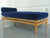 Midcentury Navy Blue Velvet Daybed in the Style of T.H. Robsjohn-Gibbings