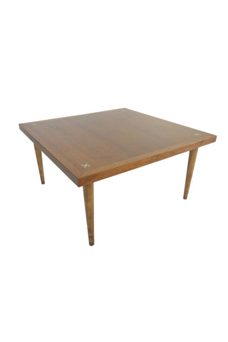 Midcentury Walnut Cocktail Table by Merton Gershun
