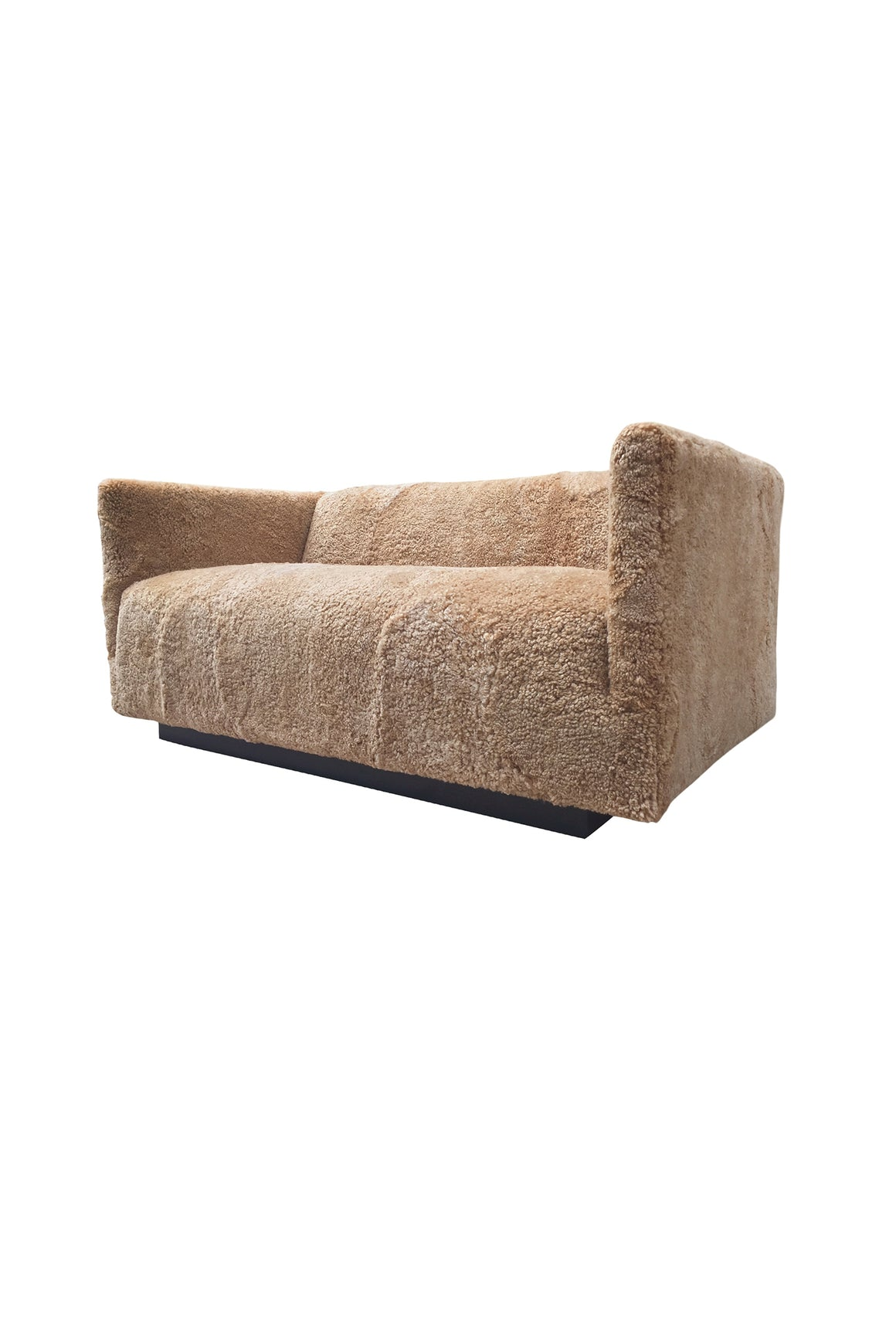1960s Milo Baughman Settee in New Skandilock Shearling