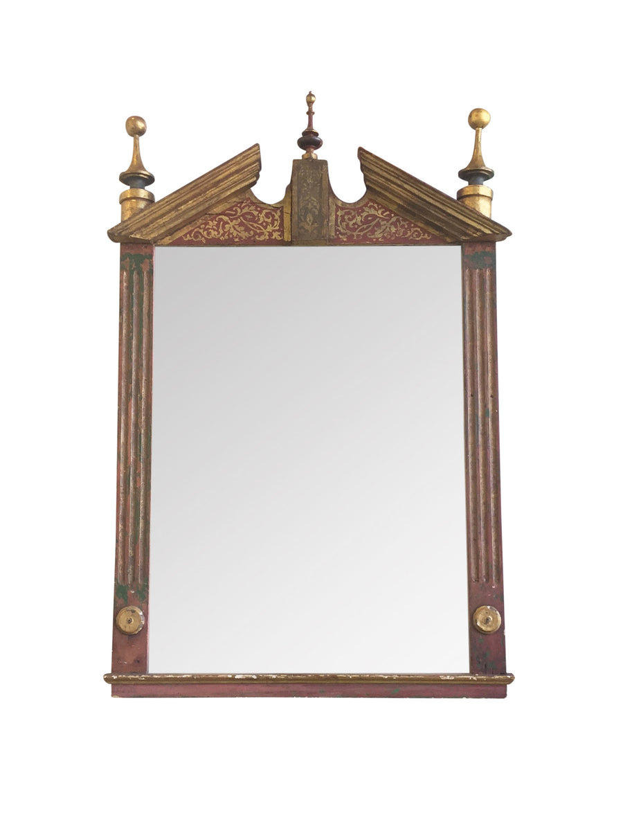 Early 20th Century Gilt Painted Mirror in the Neoclassical Style