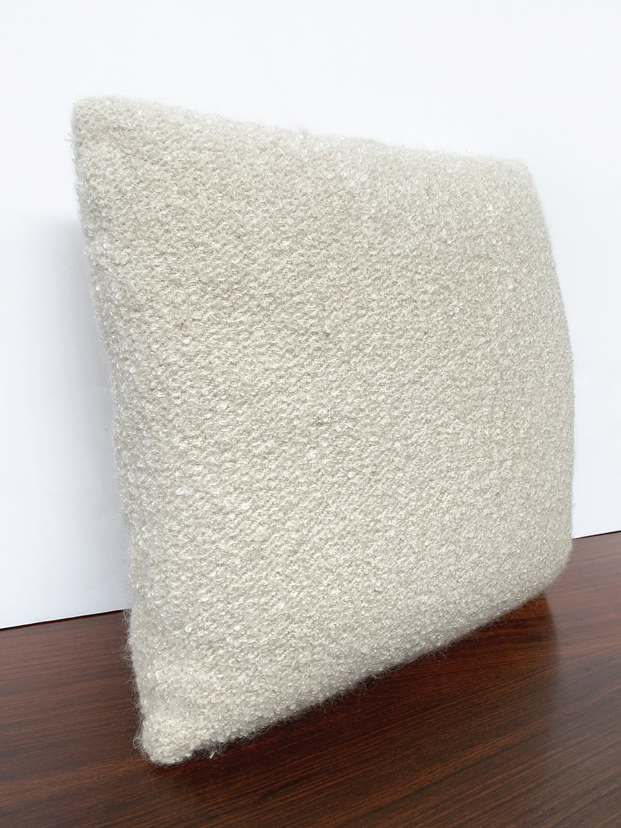Custom Pillow With Cream Bouclé From Schumacher