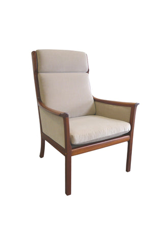 Midcentury Ole Wanscher Armchair for Poul Jeppesen