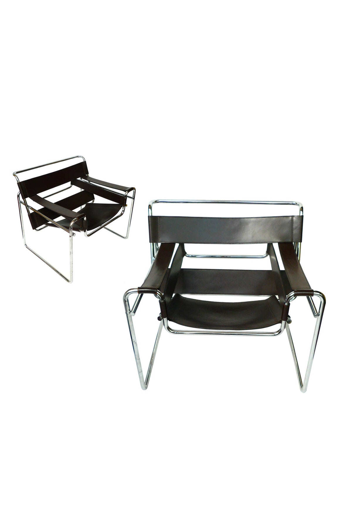 Wassily Chairs by Marcel Breuer for Knoll - a Pair