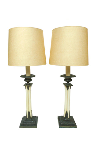 Paul Hanson Table Lamps - A Pair