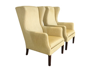 Pair of Midcentury Wingback Armchairs Attributed to Peter Hvidt