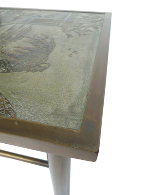 Philip & Kelvin Laverne Etched Bronze Coffee Table