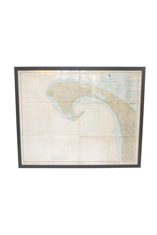 Framed Nautical Chart of Provincetown Harbor, 1935