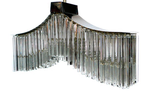 Midcentury Murano Crystal Chandelier by Camer Glass